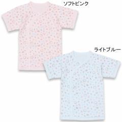 NEW MY FIRST BABYDOLL 子供服 日本製 綿100% クマ総柄 短肌着 ベビーサイズ 新生児 ベビードール 子供服 -6926
