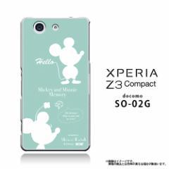 XPERIA Z3 Compact SO-02G 専用 【Disney/ディズニー】クリアケース「ミッキー&ミニー (シルエット)」 カバー (Z3c-71568)