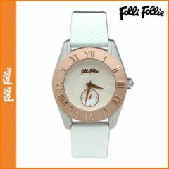 Folli Follie】フォリフォリ 時計 WF8T006ZSZWH ピンクゴールド×シルバー ラバーベルト レディース 腕時計【並行輸入】
