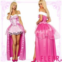 [即納]オーロラ姫 コスチューム ハロウィン衣装 4点セット sexy cute chara pair 小悪魔 魔女 海賊 童話 制服 プリンセス ナース