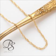 K18 18金 ゴールド ネックレス スクリュー チェーン 1.6mm幅 選べるサイズ 38cm 40cm 45cm 50cm 60cm