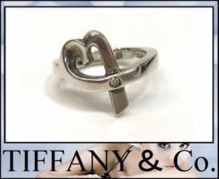 あす着 TIFFANY&Co. ティファニー ラビングハート 1Pダイヤ パロマピカソ リング・指輪 SV925 ダイヤモンド 9号 シルバー レディース