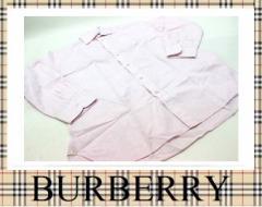 ★バーバリー メンズ チェック柄 長袖シャツ 39 ピンク★