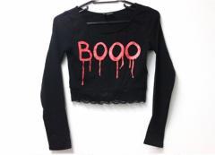 新品同様 あす着 H&M エイチアンドエム 長袖Tシャツ ショート丈 トップス 長袖シャツ ブラック レディース