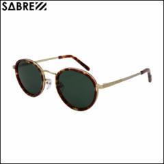 SABRE セイバー サングラス CHIT-CHAT チットチャット タートイズ/グリーンレンズ メンズ レディース ラウンド型 100%UVカット