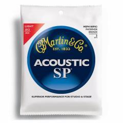MARTIN(マーチン弦) 「MSP4100PK3×4パック」(3セット入り)ライト・ゲージ  SP 92/8 Phosphor Bronze Light  Acoustic Guitar/MSP-4100P