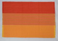 フィリピン Rowildas 手織り ランチョンマット 2枚組 オレンジ レッド