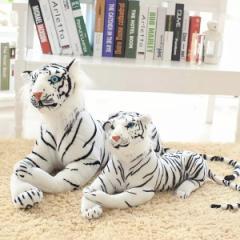 【送料無料】ぬいぐるみ トラ 抱き枕 とら 動物 虎 リアルタイガー 特大 しろ虎 大きい プレゼント ギフト 贈り物 60cm