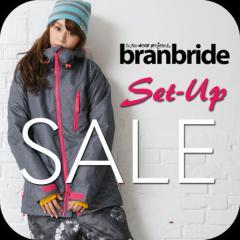 【セール特価】スノーボードウェア レディース 上下セット branbride ブランブライド新作 セットアップ 2bjk1-3set lady【返品不可】