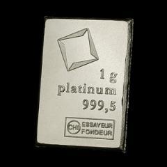 【新品・未開封】 スイス ヴァルカンビ プラチナバー 1g クリアケース入り 319-20-9999case