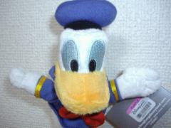 香港ディズニーのドナルドダックのぬいぐるみキーホルダー