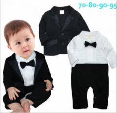 キッズ男の子スーツセットアップ ジャケット コート+オールインワン2点セットフォーマル ボーイズセット赤ちゃんベビー70-95cm
