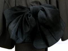 浴衣&着物に 簡単 粋なメンズ男性ぼかし兵児帯黒グレー
