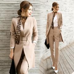 レディース ジャケット パンツスーツ フォーマル セレモニー 4点セット 女性 上下 スーツ オフィス ビジネス