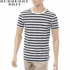 BURBERRY BRIT バーバリー Tシャツ メンズ 半袖 クルーネック 3995583 ネイビー×ホワイト ボーダー