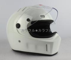 人気商品  ATV-1 フルフェイス ヘルメット   S〜XXLサイズ選び可 追加シールドは一枚+500円   白
