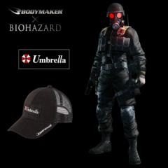 BIOHAZARD Umbrella メッシュキャップ(バイオハザード/BODYMAKER/ボディメーカー/帽子/フリーサイズ/サバゲー/ストリート)