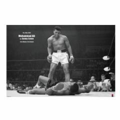 追悼モハメドアリ名場面ポスター(ヨコ/アリvsリストン)(ボクシング元世界ヘビー級チャンピオン,炎のファイター,アリ・ボマイエ)