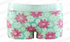 DARK SHINY(ダークシャイニー)レディースボクサーショーツ/パンツ/ブリーフ-Blossom Green花柄[ML]