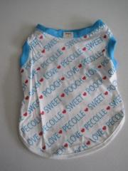 Pecolle SWEET POOCH LOVE Tシャツ 中型犬用 Lサイズ ♪