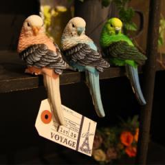 パラキート クリップ インコ型のクリップ 小鳥の...