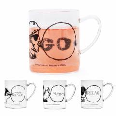 タツミナツコ×ジェニアル バブルガム 耐熱ガラス マグ / 軽い 薄い 耐熱グラス マグカップ