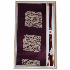 正絹 帯締め帯揚げセット 平組 帯〆帯揚げセット 茶×紫 89634