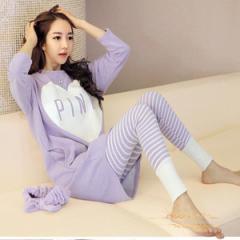 レディース可愛い綿パジャマ部屋着 寝間着 上下セットナイトウェア ルームウェア  柔らかい