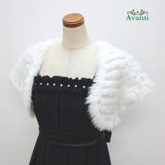 ボレロ216 ラビットファーの人気定番ボレロ 軽量コンパクトな着やすい半袖 パーティードレスに羽織るボレロ 結婚式 即納