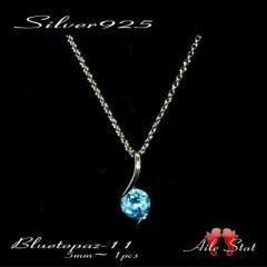 【対応】11月 誕生石sv925みずみずしい輝き天然石一粒ネックレス【ラッピング無料】【日本製】