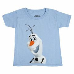 即納!送料無料!Disney 公認 ディズニー アナと雪の女王 フローズン オラフ 半袖トドラーTシャツ 4Tサイズ 水色every28
