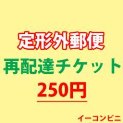 【定形外郵便】 再配達送料チケット 【250円】