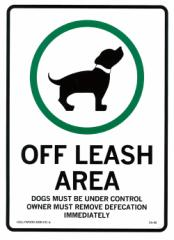 プラスティックサインボード/CA-60 犬許可区域/看板案内板案内ボード世田谷ベースアメリカ雑貨アメリカン雑貨OFF LEASH AREA
