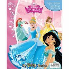 (英語版)海外書籍 「Disney Princess:My Busy Books(ディズニー プリンセス マイ ビジーブック)」 (本+ミニフィギュア12種)