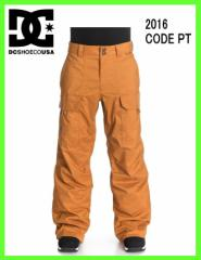 2016 DCshoes CODE PANT CPB0 ディシースノーボードパンツCATHAY SPICE-SOLID