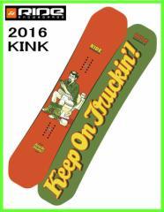 2016 RIDE KINK 147cm ライド キンク スノーボード ツインロッカー ジブボード