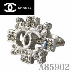 シャネルリング/CHANEL ココマーク スクエアラインストーンリング シルバー A85902SV