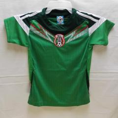 子供用 K054 メキシコHOME 緑 14 ゲームシャツ パンツ付/選手選択/サントス/サッカー/キッズ/上下セット