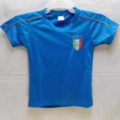 子供用 K015 イタリア 青 16 ゲームシャツ パンツ付/選手選択/バッジョ/サッカー/キッズ/上下セット/