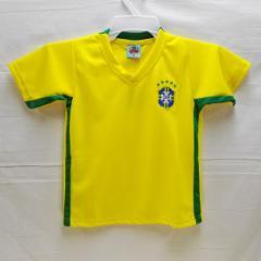 子供用 K012 ブラジル 黄 16 ゲームシャツ パンツ付/選手選択/ネイマール/サッカー/キッズ/ジュニア/オリジナル