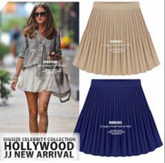 【NEW】フレア ミニ スカート 大きいサイズ レディース春LL 3L 4L/cfmmh-3529【予約】