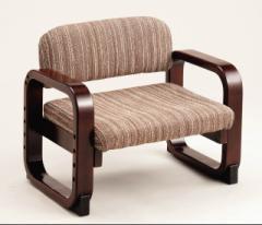 『思いやり楽っと座椅子C-III ストライプブラウン』パール金属 N-8061 イス