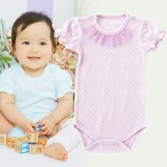 チュールフリル付き 半袖かぶりロンパース 赤ちゃん 服 ベビー服 ロンパース ロンパス 半袖 かぶり 女の子 女児 出産お祝い ギフト