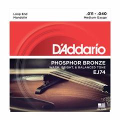 Daddario/マンドリン弦/EJ74 Mandolin/Meduim/Phospor Bronze【ダダリオ】