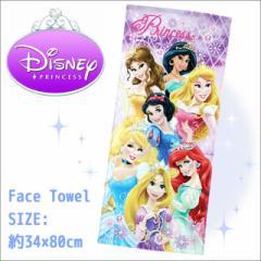 【10%OFF】フェイスタオル ディズニー プリンセス 『ジュエルドレス』 (染料プリント) Disney/Princess/キャラクタータオル/SALE