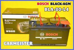 BLA-80-L4 BOSCH ボッシュ 欧州車用 BLACK-AGM バッテリー 80Ah 互換:SLX-8C PSIN-8C