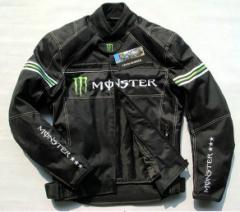 monster メンズ バイクジャケット 秋冬 レーシング ライダース バイクウェア オールXXLナイロンジャケット ウインター プロテクター