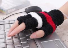 あたたかい USB 手袋 パソコン PC かわいい スマホ操作 ウォーマー 防寒 節電 ヒーター エコ【管理番号:F176】