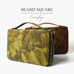 BEAMZSQUARE セカンドバッグ メンズ 男性 牛革 スエード オーガナイザーバッグ ブランド BS-2466