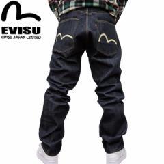 EVISU(エヴィス エビス )X WAREHOUSE(ウエアハウス) NO2素材 やや太め #2001 ジーンズ ホワイトカモメ